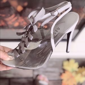 💜💜💜Grey Transparent ❤️ Heel